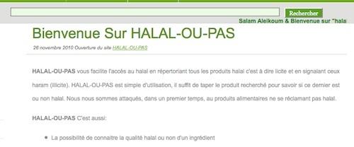 Ils bloguent sur le halal