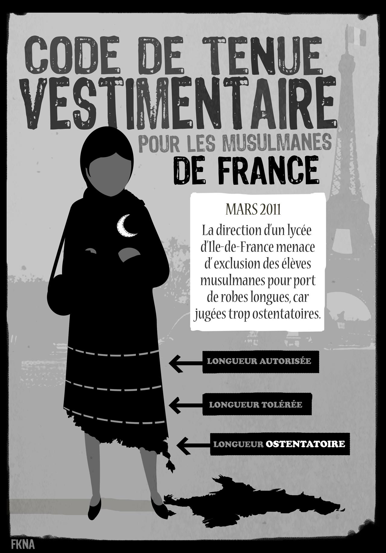 code de tenue vestimentaire pour musulmanes de france l 39 affiche. Black Bedroom Furniture Sets. Home Design Ideas