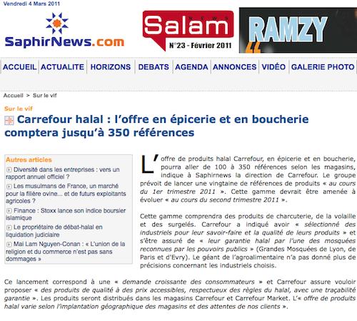 Carrefour halal : vers une stratégie en force ?