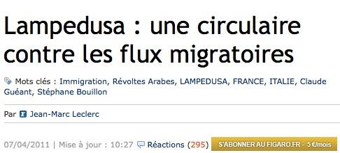 Lampedusa et le Figaro : quand les immigrés sont un fléau