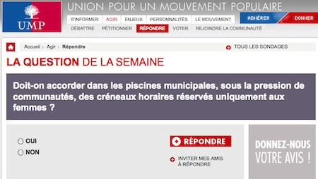 Piscine non mixte : l'UMP va fâcher le grand rabbin de France