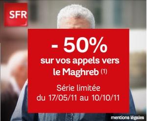 Téléphonie vers le Maghreb : SFR ose une publicité