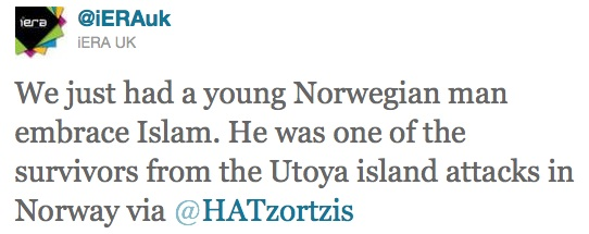 Rescapé de l'attentat d'Utoya, il se convertit