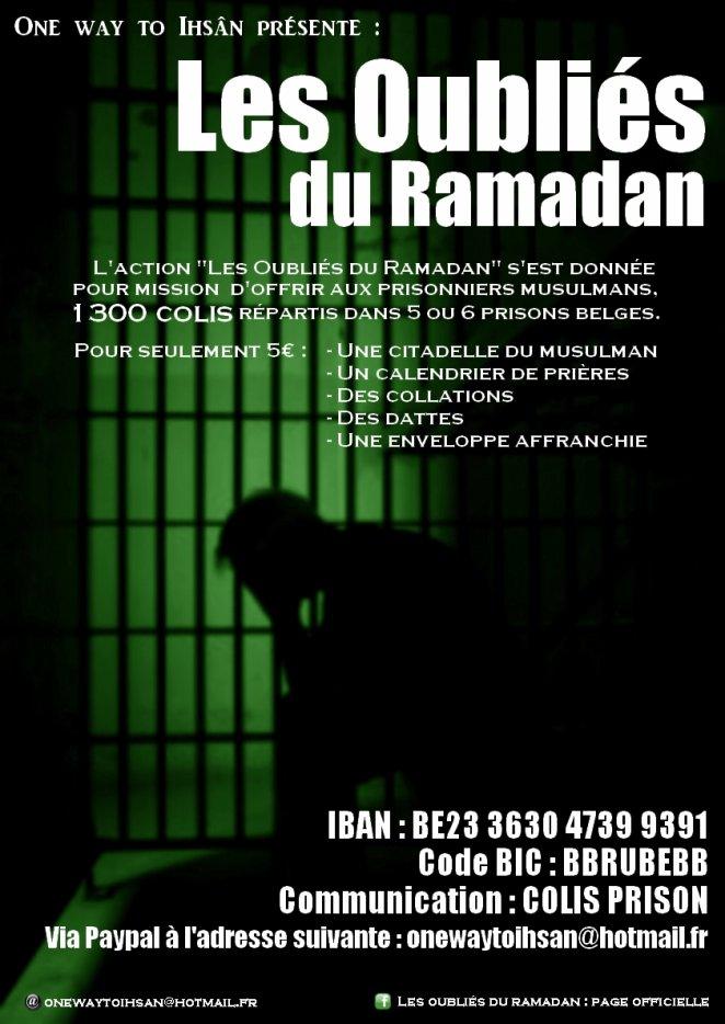Prison : les oubliés de ramadan