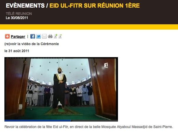 L'aïd al-fitr diffusé à la télévision française