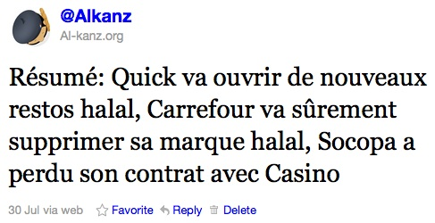 Halal : Socopa perd Casino