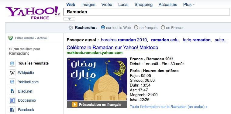 Ramadan : Yahoo France indique les horaires de prière