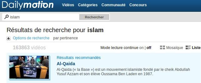 A islam Dailymotion répond Al-Qaida