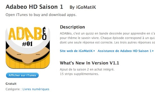 ADABéo : l'application iPhone/iPad de nouveau gratuite