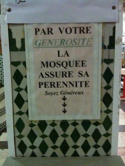 Par votre générosité, la mosquée...