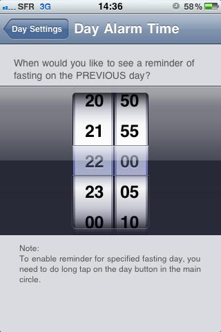 Fasting reminder