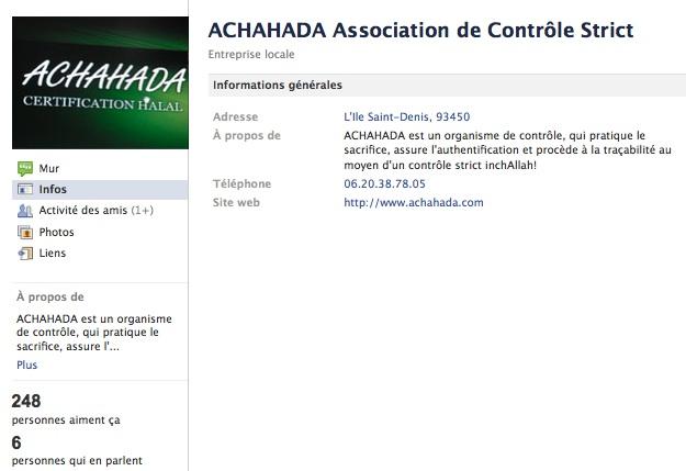 Achahada - Page Facebook
