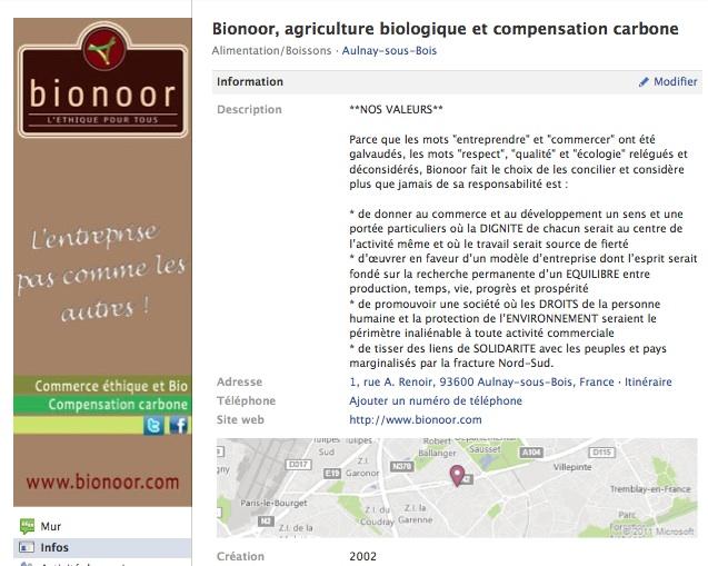 Bionoor - Page Facebook