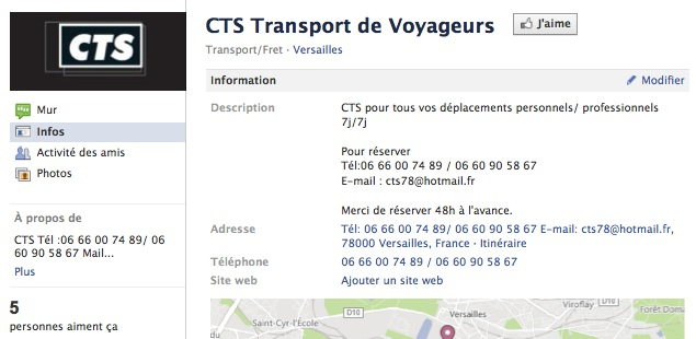 CTS Transport - Page Facebook
