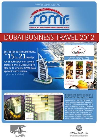 Second voyage d'affaires de SPMF à Dubaï en 2012