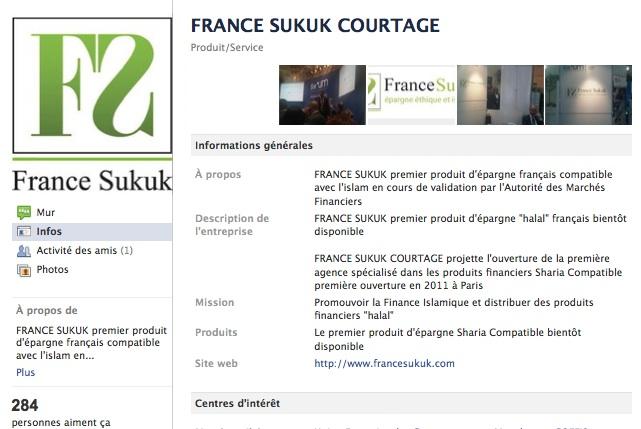 France Sukuk Courtage - Page Facebook