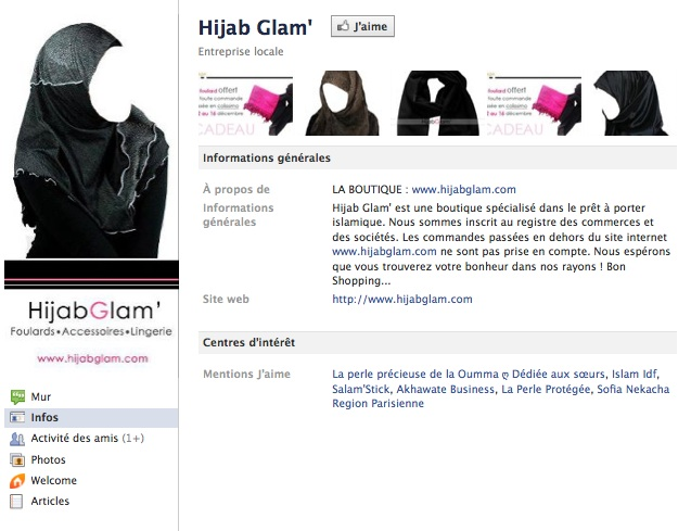 Hijab Glam' - Page Facebook