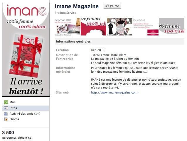 Imane Magazine - Page Facebook