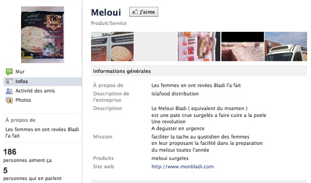 Meloui - Page Facebook