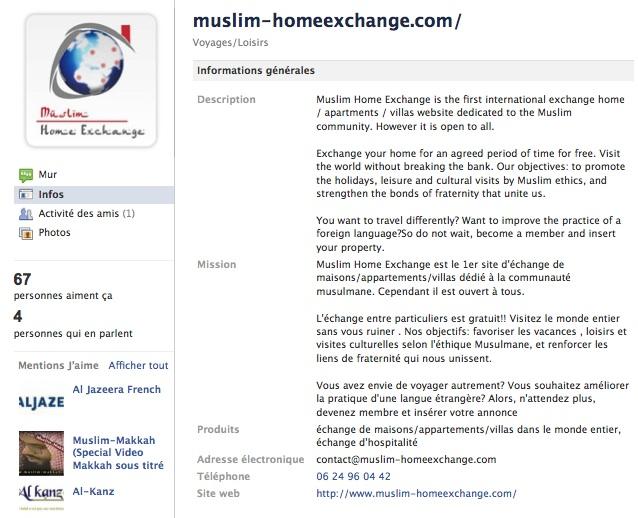 Muslim Home Exchange - Page Facebook