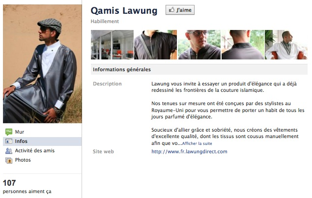 Qamis Lawung - Page Facebook