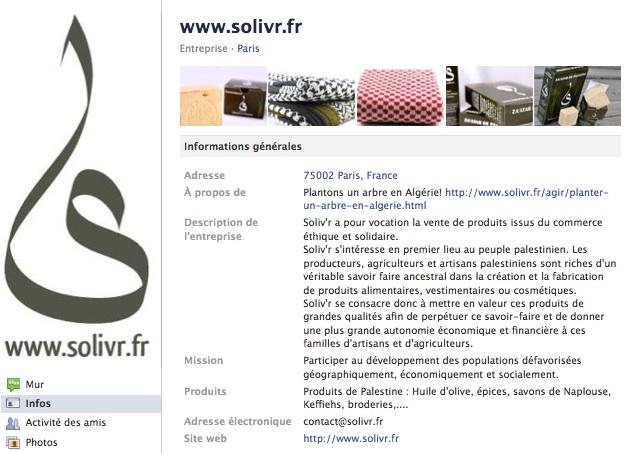 Solivr - Page Facebook