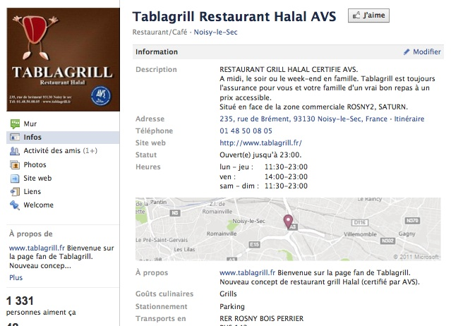 Tablagrill - Page Facebook