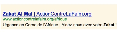 Zakat al-mal : Action contre la Faim l'attend