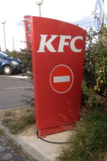 KFC, passage interdit !