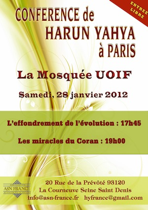 Harun Yahya invité au siège de l'UOIF