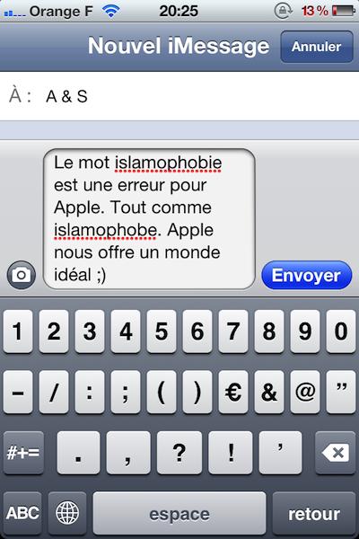Pas d'islamophobie chez Apple