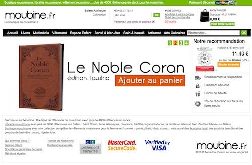 La e-boutique du samedi : Moubine