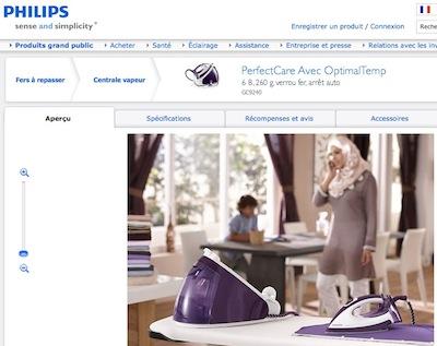 Philips : hijab friendly