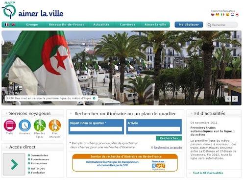 La RATP aux couleurs de l'Algérie
