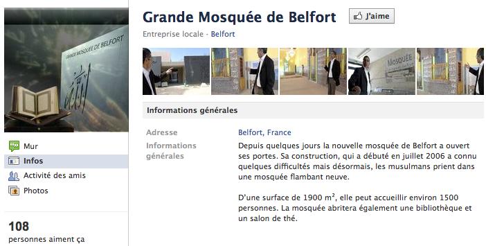 Mosquée de Belfort - Page Facebook