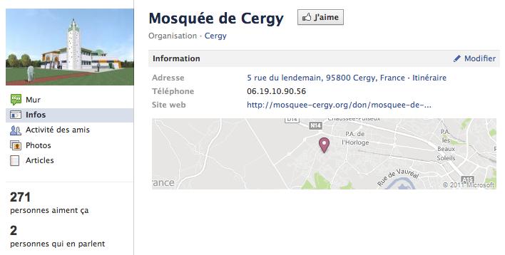 Mosquée de Cergy - Page Facebook