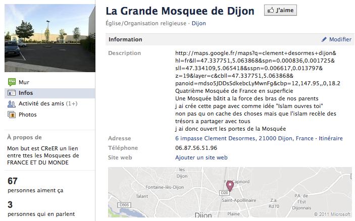 Mosquée de Dijon - Page Facebook