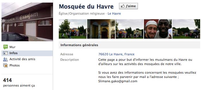 Mosquée du Havre - Page Facebook