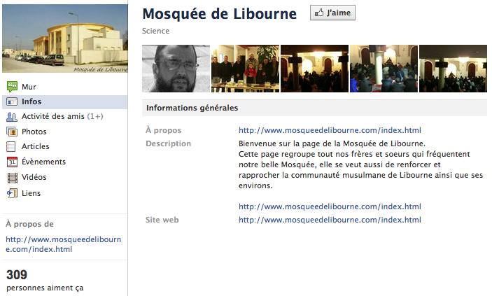 Mosquée de Libourne - Page Facebook