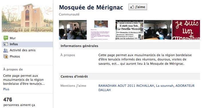 Mosquée de Mérignac - Page Facebook
