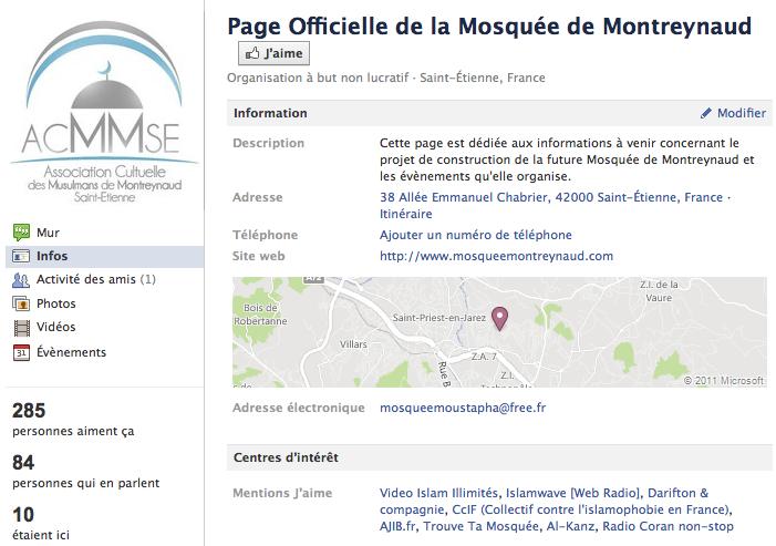 Mosquée de Montreynaud - Page Facebook