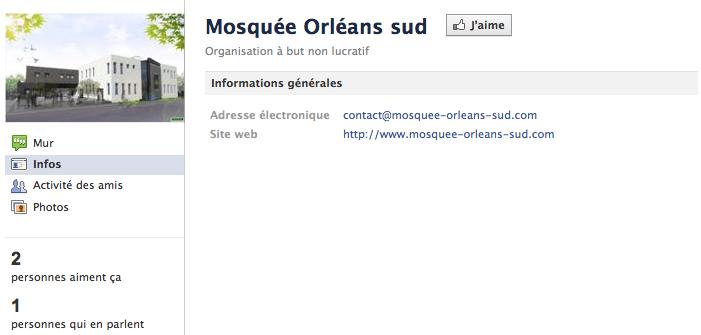 Mosquée de Orléans - Page Facebook
