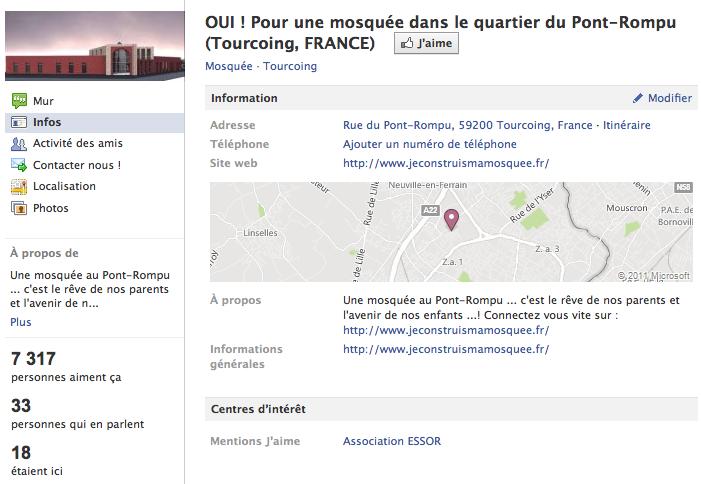 Mosquée de Tourcoing - Page Facebook