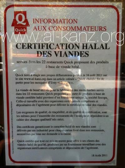 Quick halal : la mosquée de Paris remerciée, Socopa mis au pas