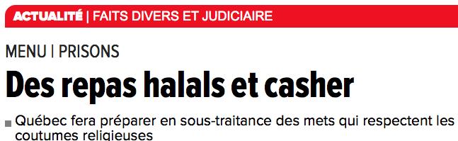 Halal et casher : la controverse grandit au Québec