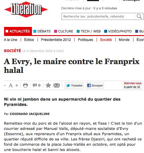 Halal : quand Manuel Valls retourne sa veste