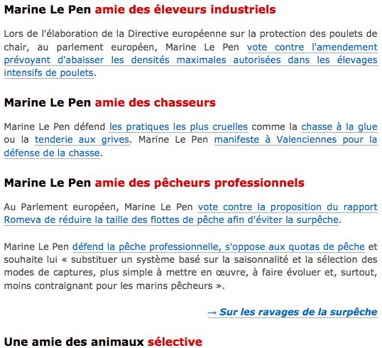 L214 : Marine Le Pen dénoncée