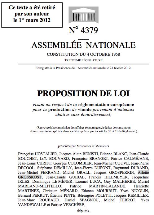 Abattage rituel : proposition de Françoise Hostalier