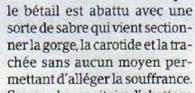 Rite sacrificiel maghrébin ou de l'incompétence journalistique