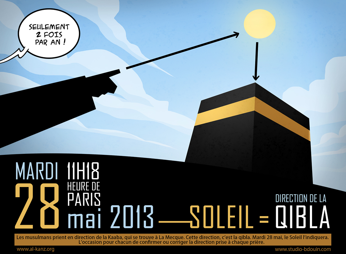 Le 28 mai, le Soleil indiquera la Qibla